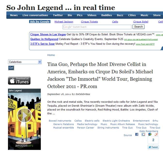PR.com on SoCelebrities- John Legend