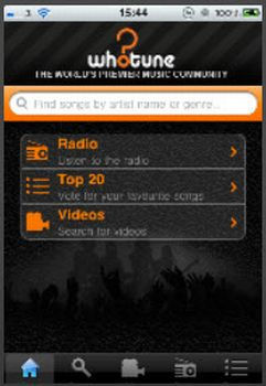Whotune Indie Artist App by Whotune.com