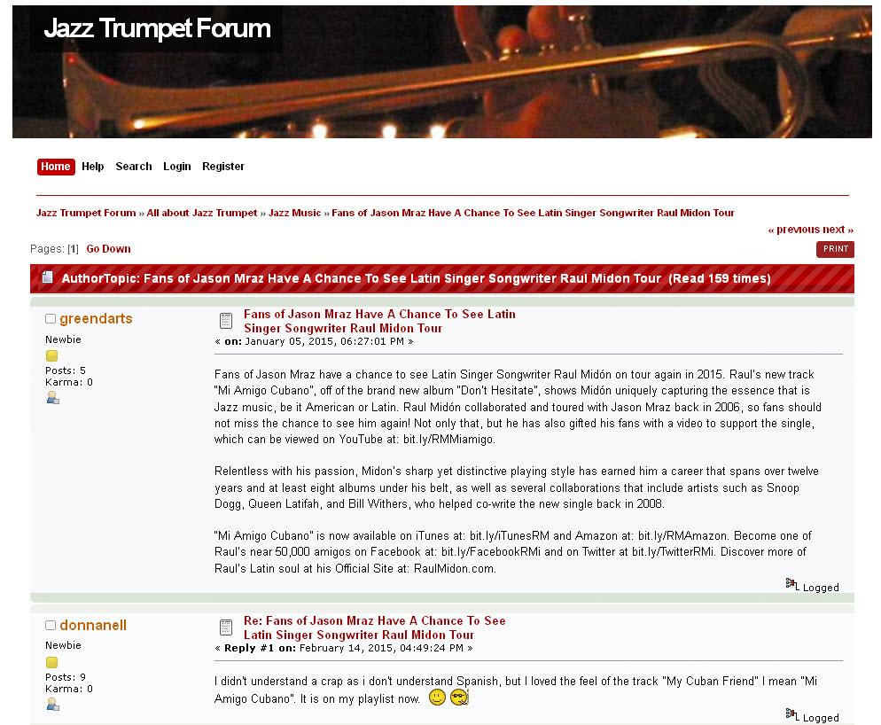 Jazz Trumpet Forum - Viral Blogging