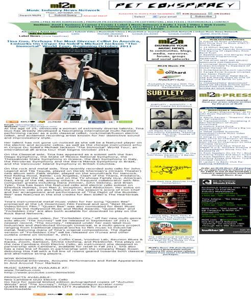 Featured Artist PR on mi2n.com