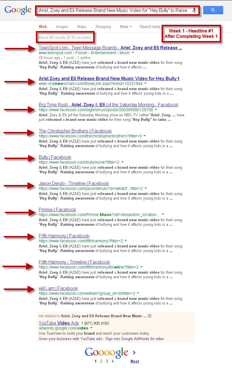 Google Search PR #1 - #10