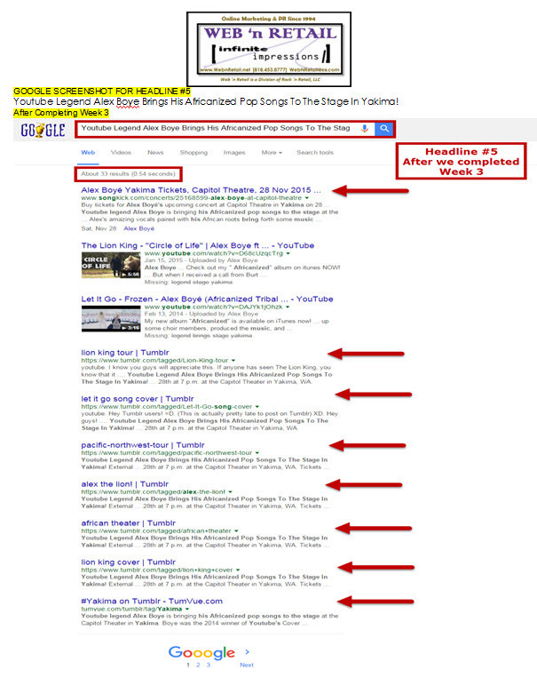 Google Front Page - Yakima#3