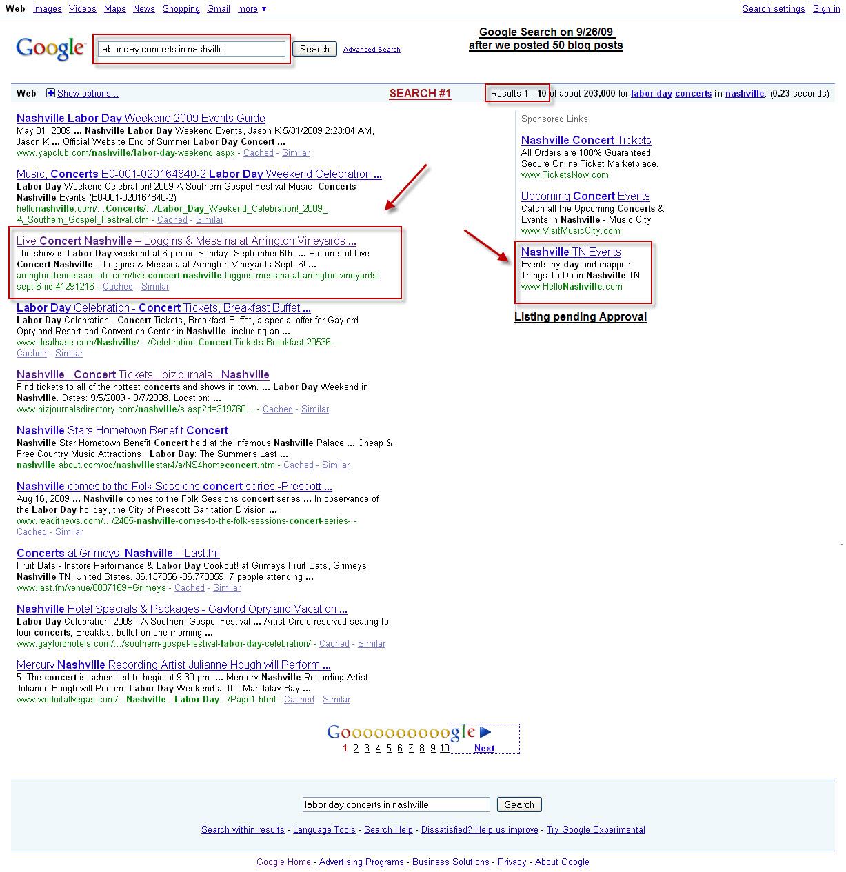 Event Posts Google Result #3 of 200k