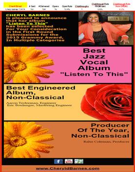 Cheryl Barnes-Grammy Consideration eBlast
