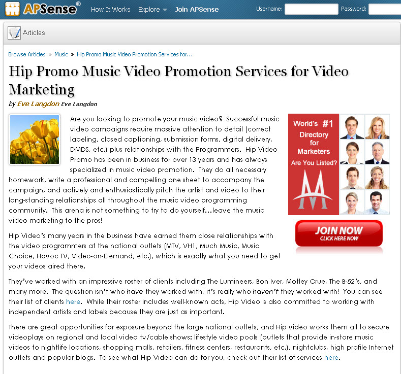 Hip Video Blog Post on APSense