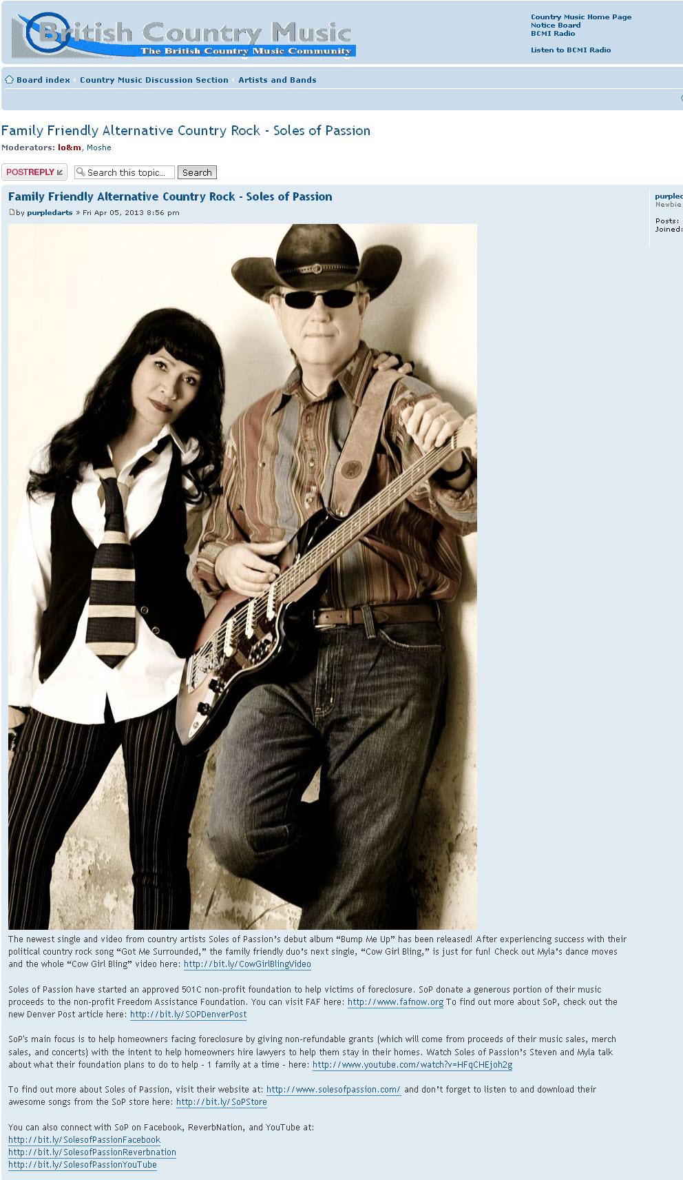 Blog Post on British Country Music