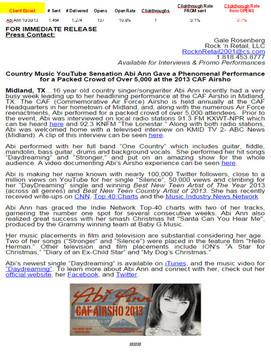 Abi Ann National Press Release