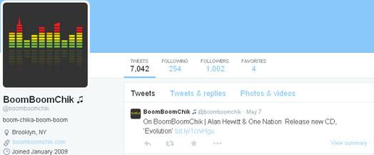 Boom Boom Chick's Twitter