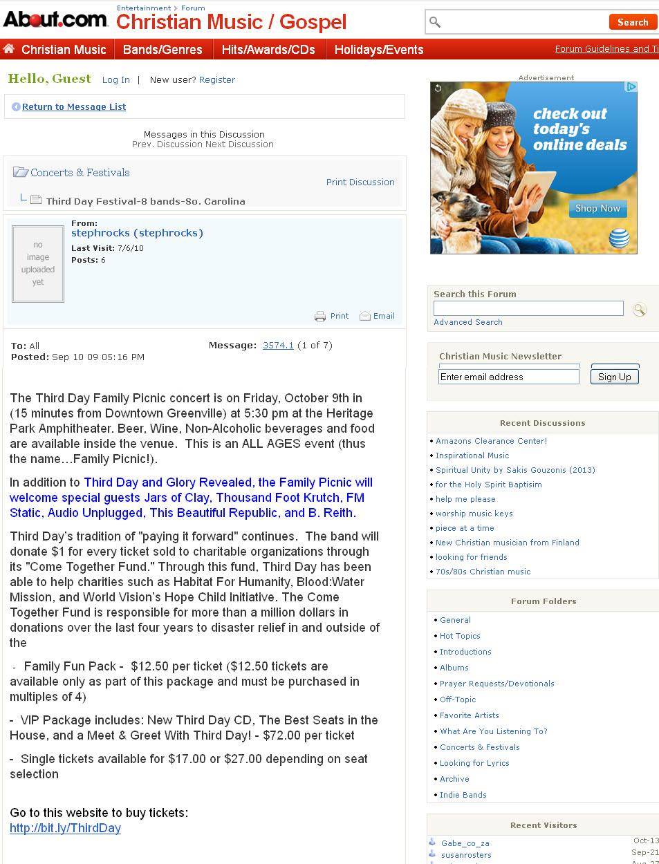 About.com Christian/Gospel Forum