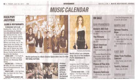 Marin Independent Journal-Music Calendar