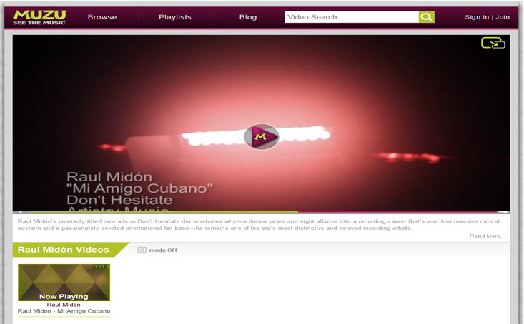 MUZU - Video Blog Post