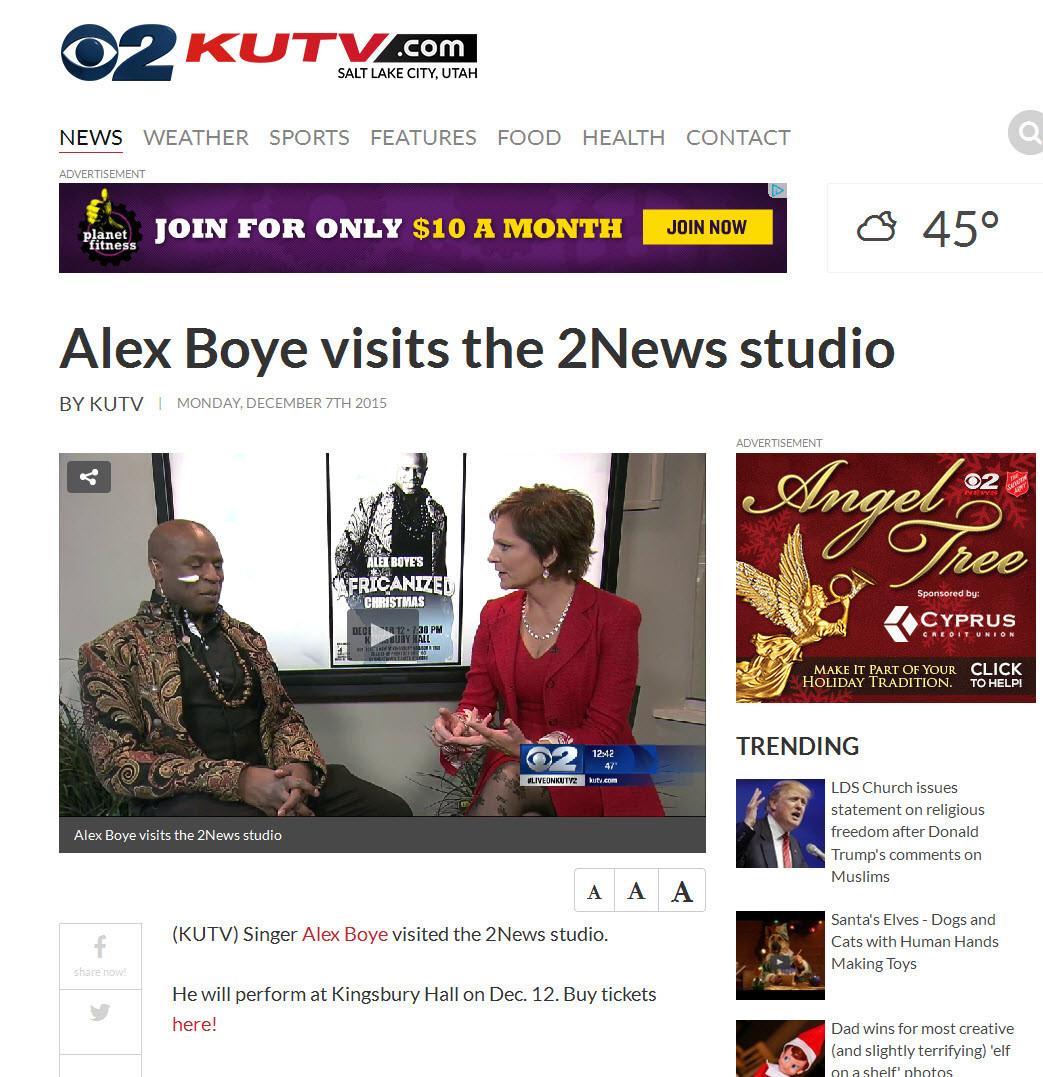 KUTV-CBS TV-News At Noon-Salt Lake City