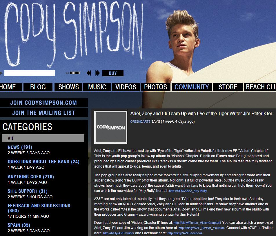 Cody Simpson Forum