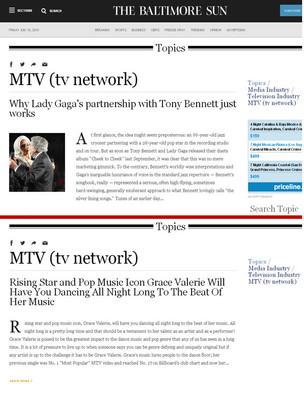 The Baltimore Sun-MTV news