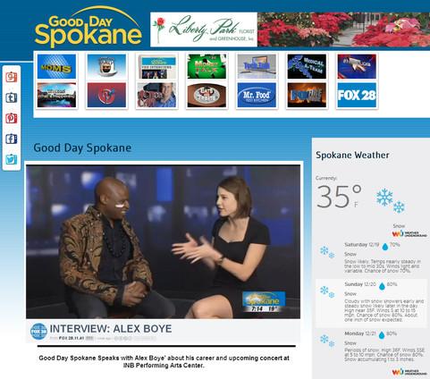 KAYU-Fox TV - Good Day - Spokane