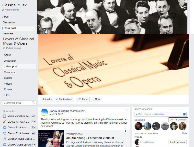 Xia Xia Lovers of Classical Music & Oper