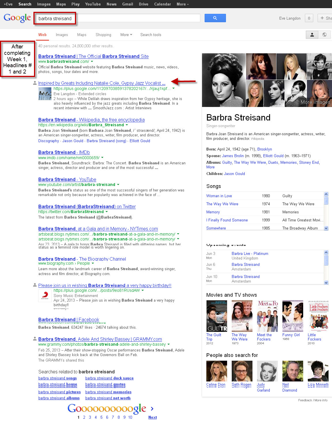 Barbra Streisand Google search #2