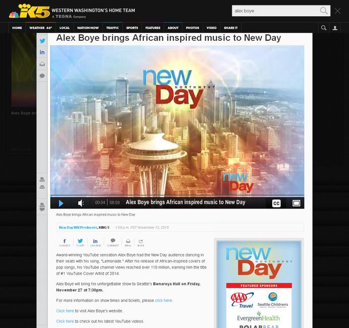 King 5 TV-New Day Northwest-Seattle