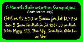 6 Month Indie Artist Campaign