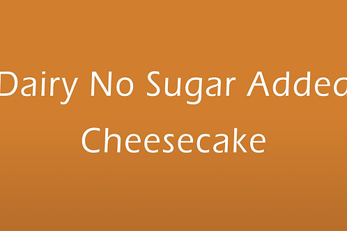 New York Cheesecake (No Sugar Added)