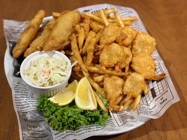 Seafood Triple Play.