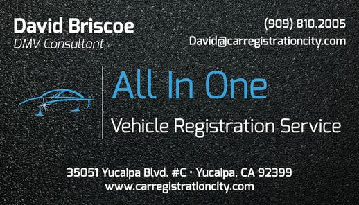 All in One Vehcile Registartion.David.BC
