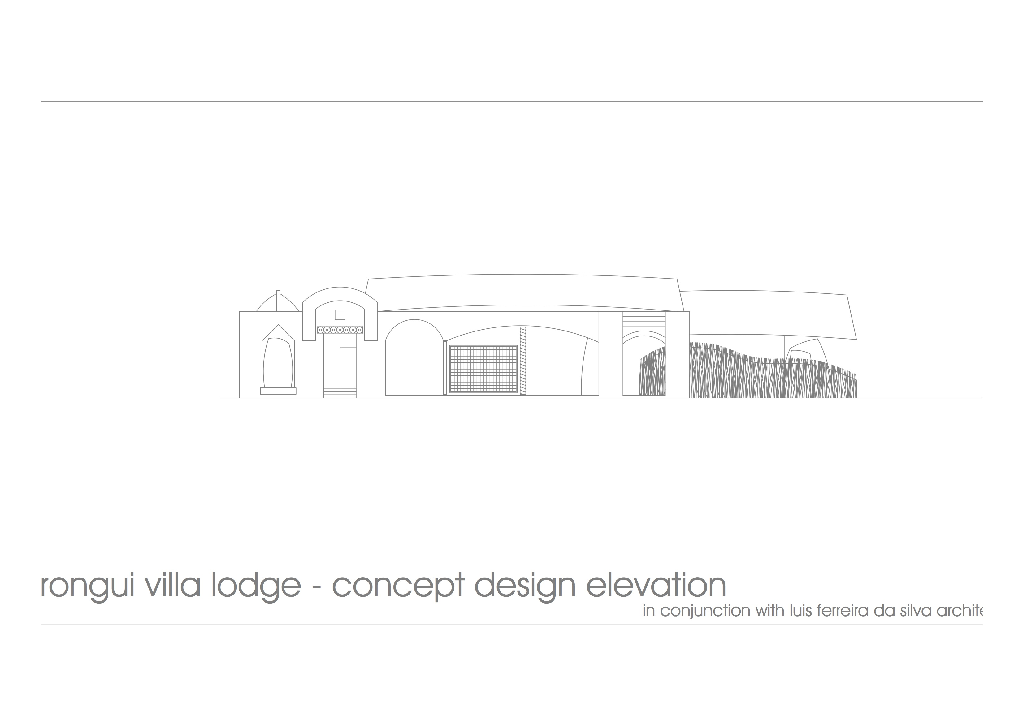 Rongui Villa - concept elevation