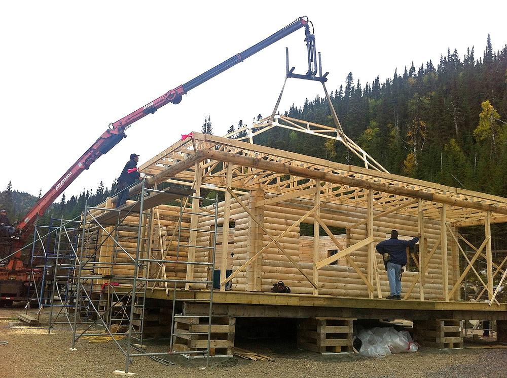 Construction maison en bois rond | Éconobois | Zone Construction | Québec