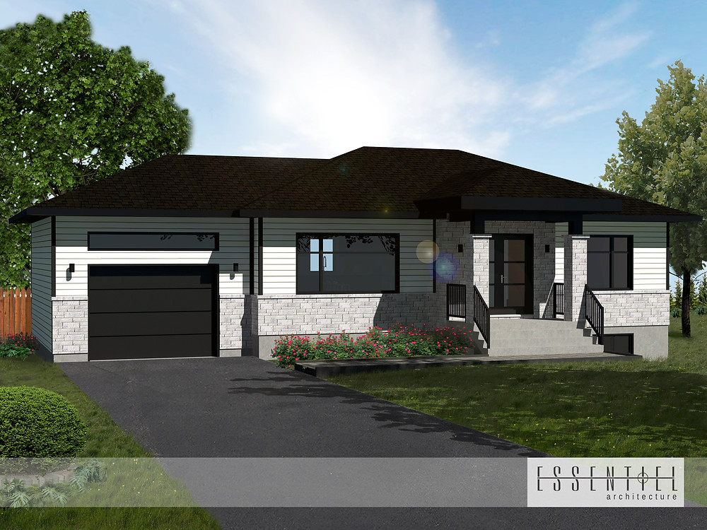 Construction neuve | Maison neuve | Conception 3D | Essentiel Architecture | Zone Construction | Québec