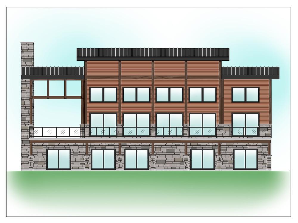 Plan de maison à 4 chambres | Conception de plan | Plan de maison | Essentiel Architecture | Québec