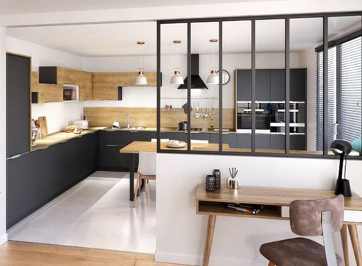 Pour une cuisine original, pensez rangement, home staging et verrière!