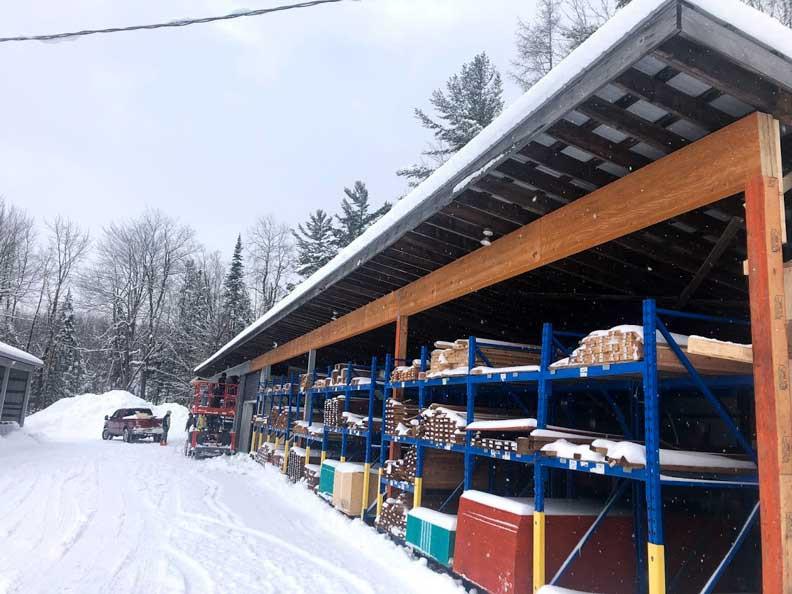 Rénovation commerciale | En cours | Travaux | Structure | Freneco | Construction SMO | MTIC | Québec