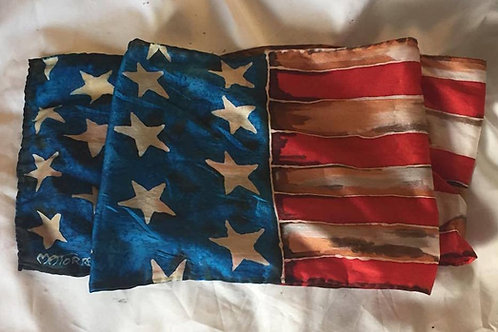 US Flag Silk Scarf-Reserved for JP