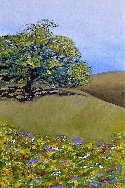 Texas Oak and Flowers