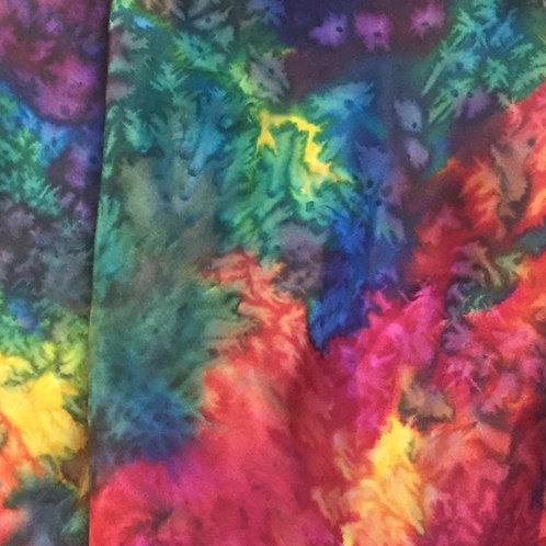 Rainbow Kaleidoscope Silk Scarf