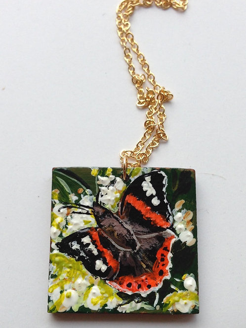 Square Butterfly necklace