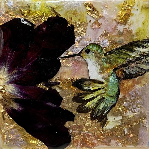 Hummingbird and Tulip