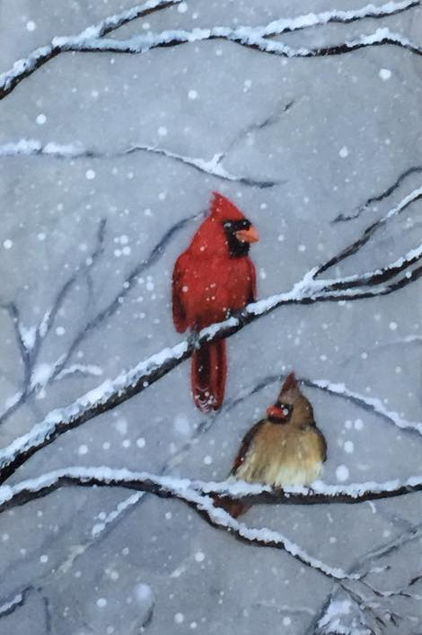 Winter Land Lovebirds