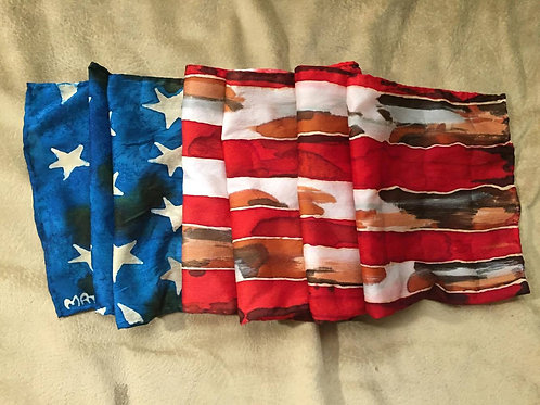US Flag Silk Scarf-Reserved for V.B.H.