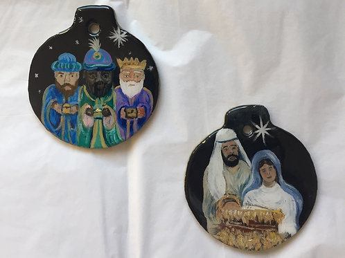 Nativity/Three Kings ornaments