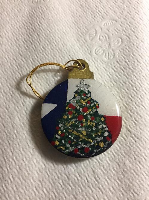 Texas Flag Christmas Tree ornament