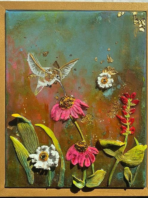 Hummingbird in Gold
