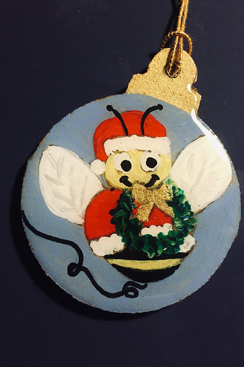 Bee with Wreath ornament