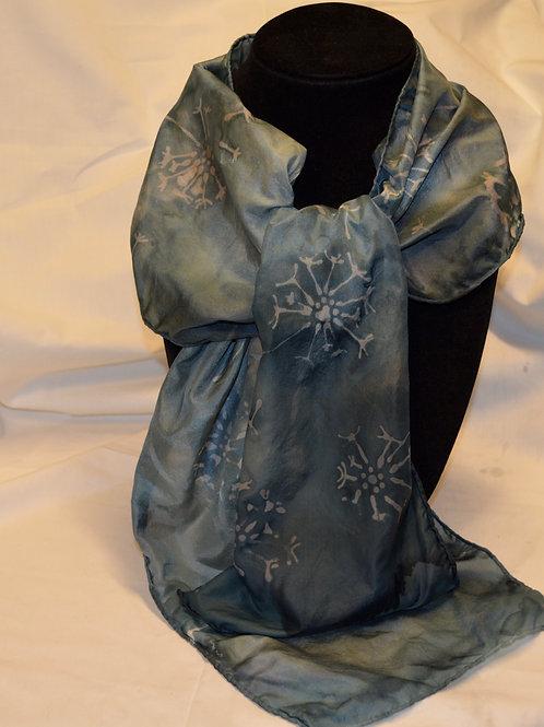 Dandelion Hand-painted Silk Scarf