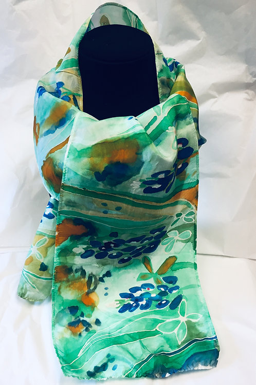 Bluebonnet Silk Scarf