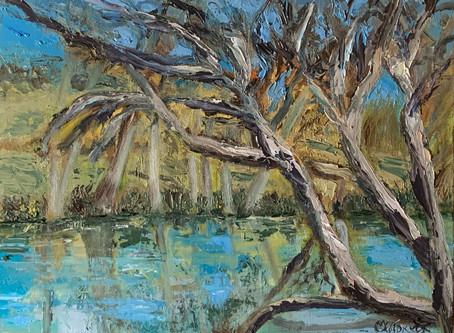 Plein air painting at Koenig Park