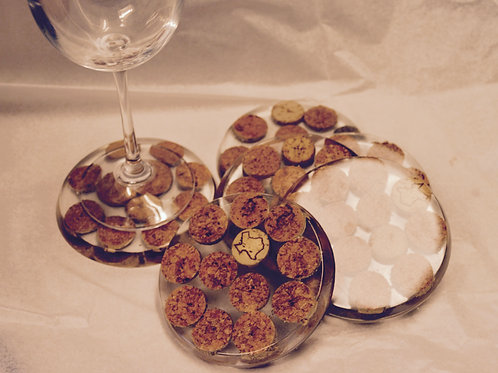 Cork and Resin Coasters