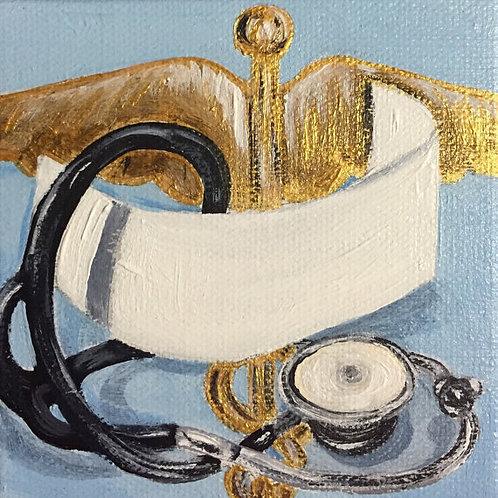 Nursing Cap and Stethoscope