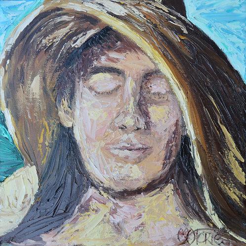 Mujer con Sombrero del Sol