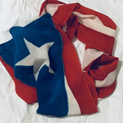 Puerto Rico Flag Silk Scarf